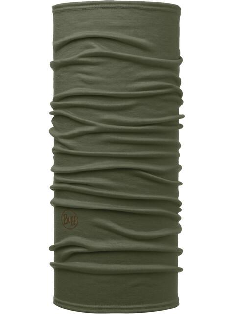 Buff Lightweight Merino Wool Neck Tube Solid Forest Night